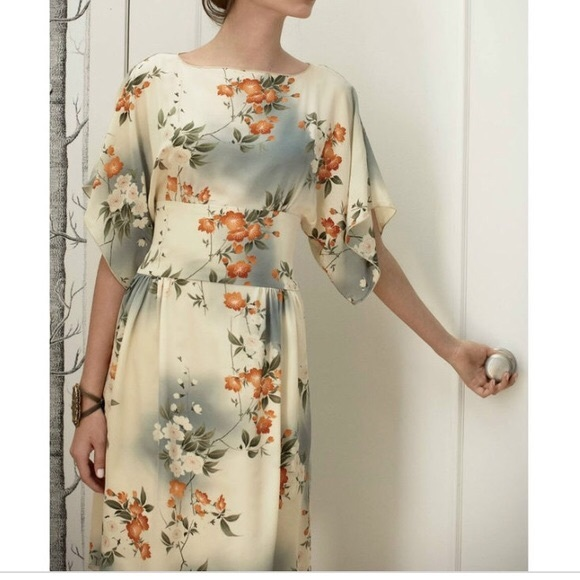 ca8b8a709 Anthropologie Dresses & Skirts - Anna Sui Anthropologie Jonquil Sky Silk  Dress